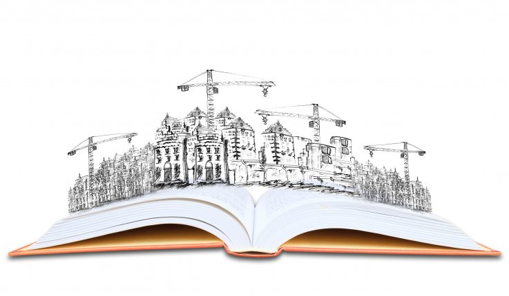open book and building